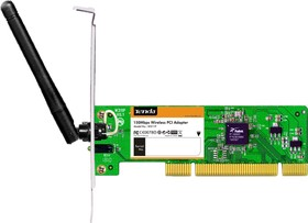 W311P+, Wireless N150 PCI Adapter with one 2.2dBi fixed antenna (external omni-directional), 2.4GHz