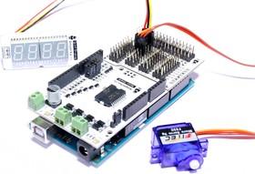 Фото 1/4 Troyka-Mega Tail Shield, Плата расширения для подключения периферийных Arduino модулей