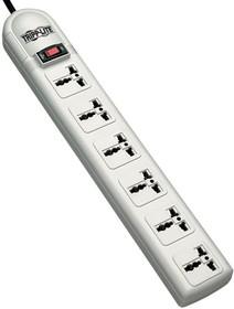 SUPER6OMNID, 230V 50-60Hz, CEE 7/7 plug, 6 outlets, 2m cord