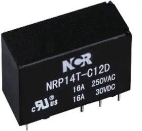 NRP-14T-B-12D, Реле 1 разм. 12V / 16A, 250VAC