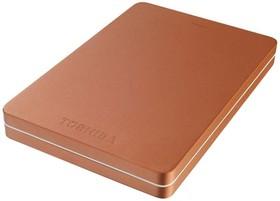 Внешний жесткий диск TOSHIBA Canvio Alu HDTH305ER3AA, 500Гб, красный
