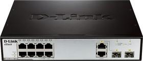 DES-3200-10/C1A, 8-Port 10/100Mbps + 1 SFP + 1 Combo 1000BASE-T/SFP L2 Management Switch