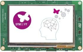 Фото 1/2 STM32F746G-DISCO, Отладочная плата на базе ARM Cortex-M7 для мультимедия, Arduino, TFT, Ethernet,USB, камера