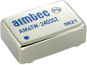 AM6TW-2424SZ, DC/DC преобразователь, 6Вт, вход 9-36В, выход 24В/250мА