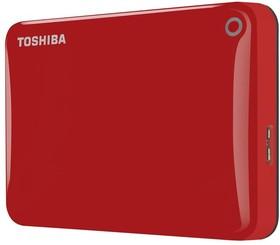 Внешний жесткий диск TOSHIBA CANVIO Connect II HDTC810ER3AA, 1Тб, красный