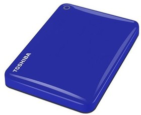 Внешний жесткий диск TOSHIBA CANVIO Connect II HDTC805EL3AA, 500Гб, синий