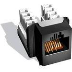 Модуль Brand-Rex C6CJAKU013 информационный KeystoneRJ45 кат.6