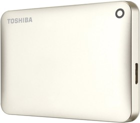 Внешний жесткий диск TOSHIBA CANVIO Connect II HDTC805EC3AA, 500Гб, золотистый