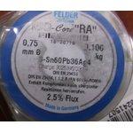 """Фото 2/2 Sn60Pb36Ag4 Тр ISO-Core """"RA"""" (0.75мм), Припой олово-свинец-серебро, катушка 100г"""
