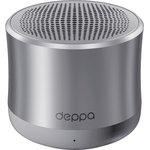 42004, Колонки Deppa Speaker Alum Solo, 1x5W, BT4.1, AUX, алюм. корпус, графит