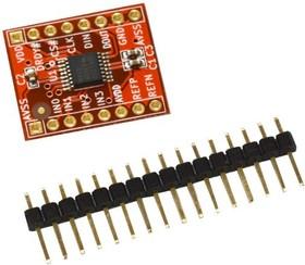 Фото 1/2 BB-ADS1220, Плата 4-х канального сигма-дельта АЦП 24-Бит форм-фактора Breakboard
