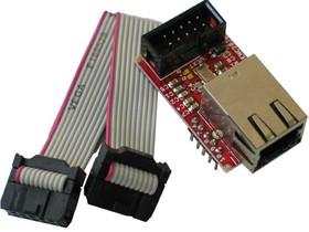 Фото 1/3 MOD-ENC28J60, Ethernet-модуль на основе ENC28J60 с интерфейсом UEXT и SPI