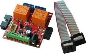 Фото 1/3 MOD-IO2, Плата ввода вывода с реле, GPIO, интерфейсом UEXT