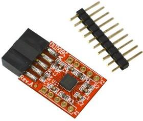 Фото 1/3 MOD-MPU9150, 9-осевой датчик отслеживания движения с интерфейсом UEXT и I2C
