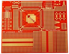 Фото 1/2 SMT-PROTOBOARD, Печатная плата для SMT компонентов и прототипирования