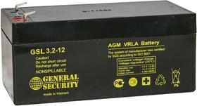 GSL3.2-12, Аккумулятор свинцовый 12B-3.2Ач 134x68x67