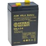 GSL4.5-6, Аккумулятор свинцовый 6В-4.5Ач 70х47х105, клемма F1