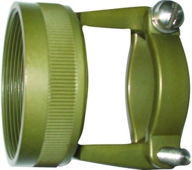 M85049/49-2-18W, Strain Relief Clamp 180° 18 Shell Size Cadmium Over Electroless Nickel Aluminum Alloy Non Self Lock