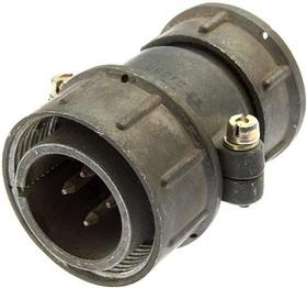 СШР28П4ЭГ8 вилка, Разъем на кабель с прямым патрубком для экранированного кабеля