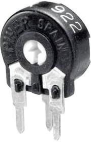 PT10LH01-472A2020-S, Подстроечный потенциометр, Horizontal Adj, 4.7 кОм, 1 виток(-ков), Сквозное Отверстие, PT-10 Series