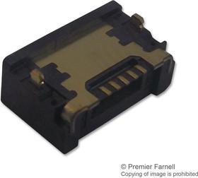ZX62WD1-B-5PC, Разъем USB, Micro USB Типа B, USB 2.0, Гнездо, 5 вывод(-ов), Поверхностный Монтаж, Прямой Угол