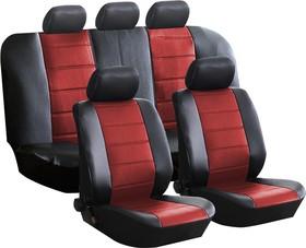 """Фото 1/3 Чехлы универсальные на автомобильные сиденья,комплект """"FASHION"""", экокожа, черно-красные"""