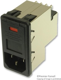 Фото 1/2 PS00XD000, CONNECTOR, POWER ENTRY, RCPT, 10A, 250VAC