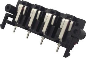 FC681508, Аудио разъем динамика/колонки, пружинная клемма с 2 выводами, 4 Контакта, Монтаж в Панель