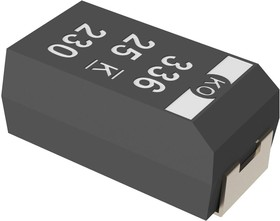 T521V106M035ATE120, Танталовый полимерный конденсатор, KO-CAP®, 10 мкФ, 35 В, серия T521, ± 20%, V, 0.12 Ом
