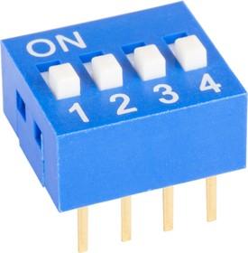 Фото 1/4 SWD1-4 (ВДМ1-4), Переключатель DIP, 4 контактных групп