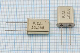 кварцевый резонатор 12.288МГц в корпусе HC49U, без нагрузки, 12288 \HC49U\S\\\\1Г (FIL)