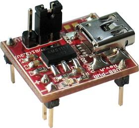 Фото 1/3 USB-PWR, USB блок питания форм-фактора Breakboard, Uвых=3.3В или 5В