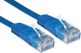Фото 1/2 GC-C5EUFC-5.0m, Патч-корд прямой ethernet 5.0m UTP Greenconnect кат.5e, RJ45, CU, 32 AWG, литой, синий, плоский
