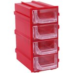 К5 Красный, Ячейки, красный корпус прозрачный контейнер 4 ...