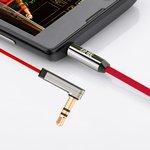 Фото 4/9 UG-20701, Кабель аудио 2.0m jack 3,5mm/jack угол 3,5mm AM/AM, UGreen, красный, 28AWG, экран, плоский, стерео