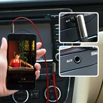 Фото 8/9 UG-10798, Кабель аудио 1.0m jack 3,5mm/jack угол 3,5mm AM/AM, UGreen, красный, 28AWG, экран, плоский, стерео