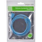 Фото 2/2 UG-10870, Кабель интерфейсный USB 2.0 1.0m Premium UGreen, AM / microB 5pin, 28 / 24 AWG экран, голубой