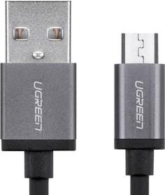 Фото 1/8 UG-10832, Кабель интерфейсный USB 2.0 3.0m Premium UGreen, AM / microB 5pin, 28 / 24 AWG экран, белый, серебр