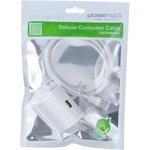 Фото 6/8 UG-10815, Удлинитель USB 2.0 1.5m AM/AF + подставка UGreen белый