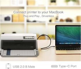 Фото 1/2 UG-30179, Кабель интерфейсный USB Type C 1.0m CM / USB 2.0 BM, UGreen черный