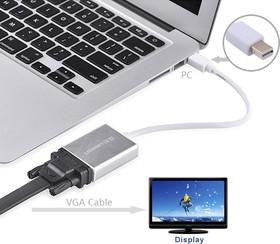 Фото 1/5 UG-10403, Мультимедиа professional конвертер Mini Display Port -  VGA, UGreen алюминевый корпус