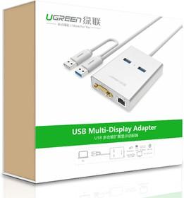 Фото 1/5 UG-40242, Мультимедиа professional конвертер USB 3.0 2AF -  VGA + LAN Ethernet UGreen Multi-Display адаптер