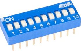 Фото 1/4 SWD1-10 (ВДМ1-10), Переключатель DIP, 10 контактных групп