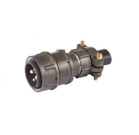 Фото 1/5 2РМТ22КПН4Ш3В1В, Вилка на кабель с прямым патрубком для неэкранированного кабеля