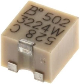 Фото 1/5 3224W-1-102E, 1 кОм, 11 оборотов, Резистор подстроечный