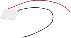 Фото 1/2 TB-2-(199-199)-0,8, Модуль Пельтье термоэлектрический 40х40мм, 10.2А 95Вт ( h  6.8мм.) (с проводами)