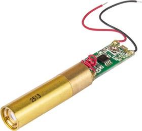 Фото 1/2 S-12 (new) (2513), Лазерный модуль 8x32mm + 9x20mm,PCBA 8.5x20mm, 532nm/5mW, точка, зеленый