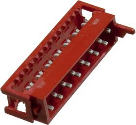 1-215083-4, Micro-Match-14 вилка на шлейф 1.27мм