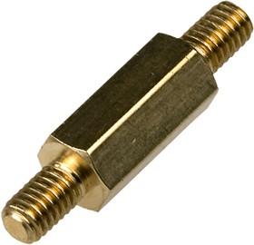 PCHNN-12 mm М3,латунь,шестигр.стойка для п/плат