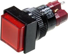 D16LMS1-1ABER, кнопка без фикс. 250В/5А, с подсветкой 60В